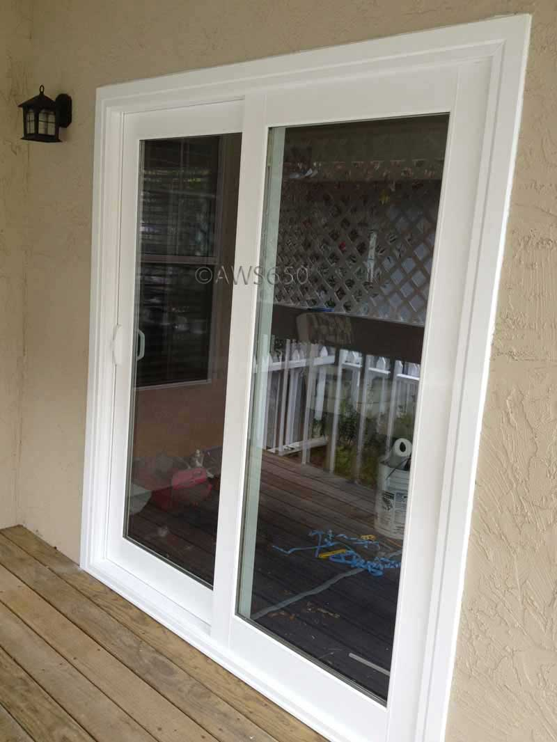 Milgard Tuscany 6 foot French Rail Patio Door installed in Half Moon Bay & Before and After replacement window photo gallery Pezcame.Com