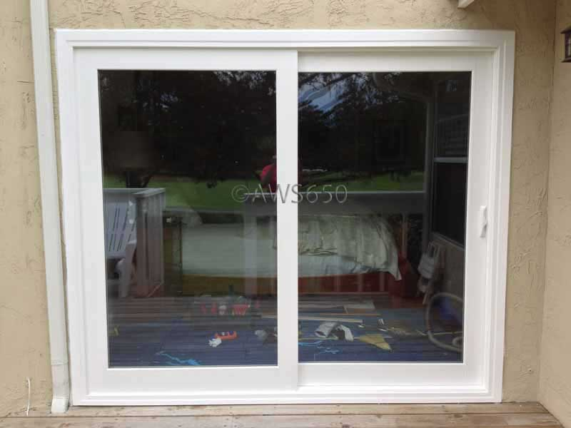 Milgard French Rail Patio Door installed in Half Moon Bay - Before And After Replacement Window Photo Gallery